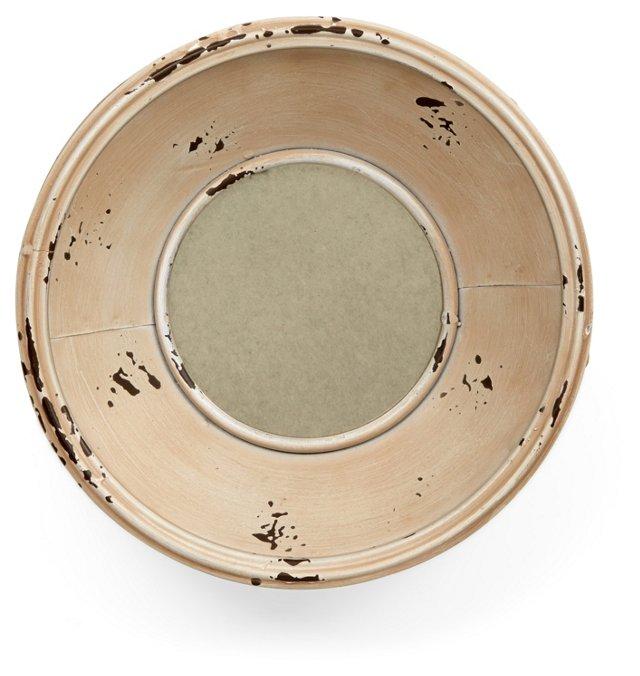 Small Lyme Accent Mirror, Cream