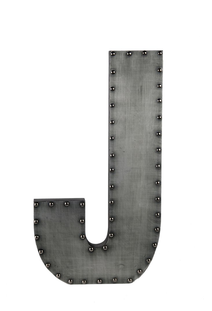 Small Aluminum Letter, J Design