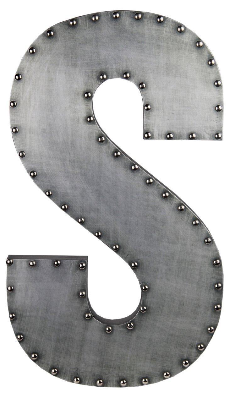 Small Aluminum Letter, S Design