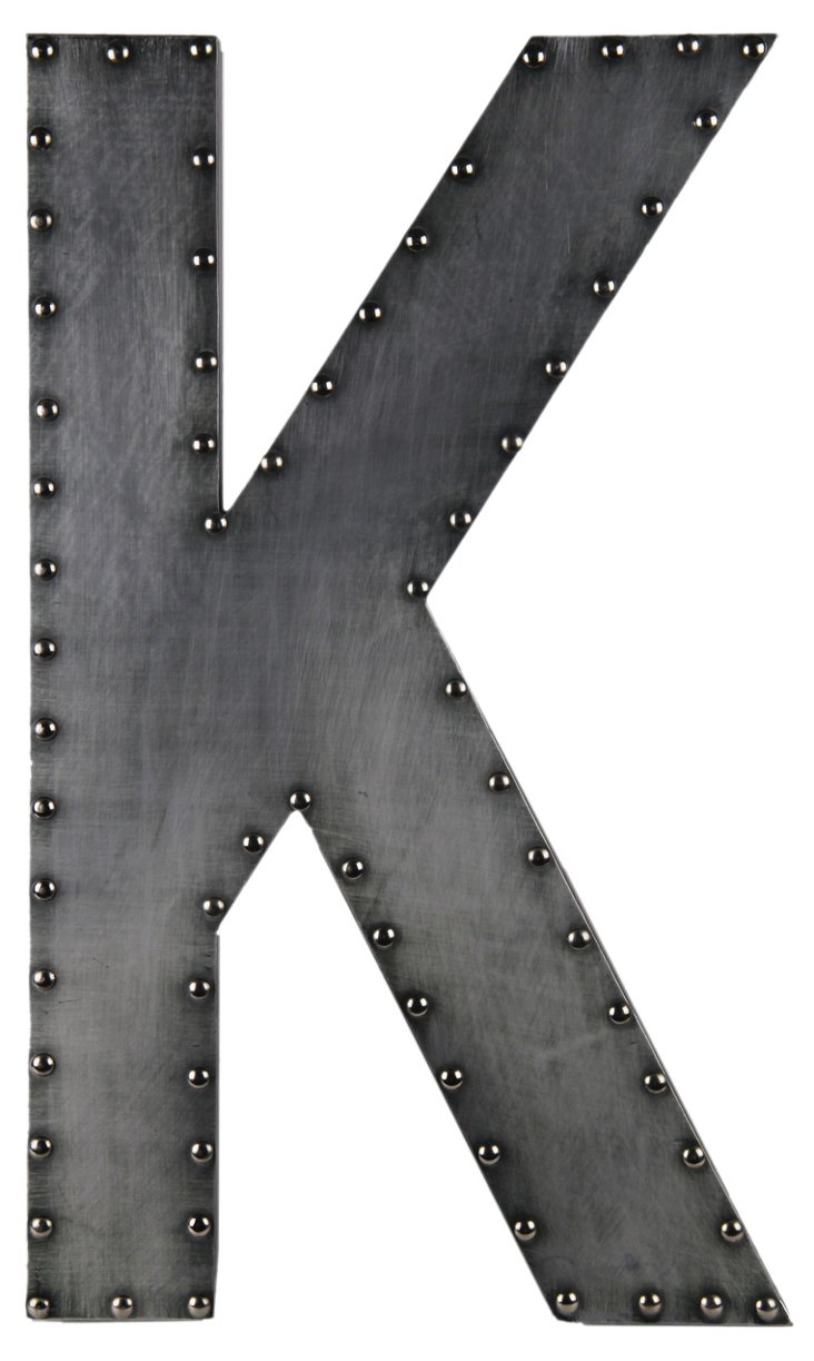 Small Aluminum Letter, K Design