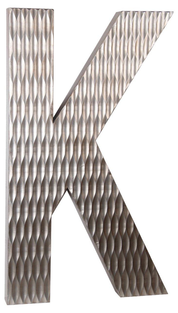 Large Wood Letter, K Design