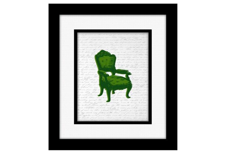 Green Chair Silhouette Print