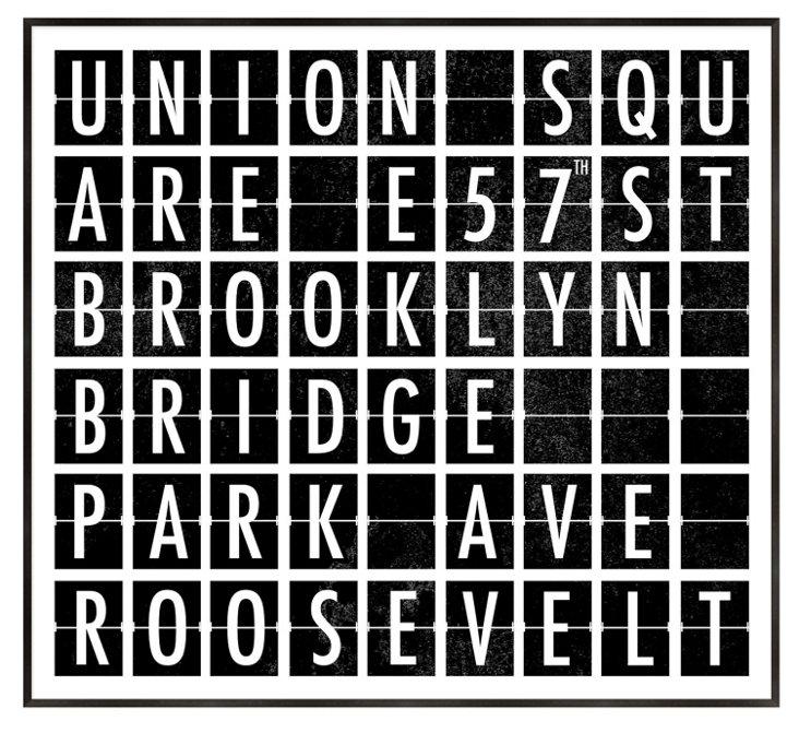 Destination Signs New York II