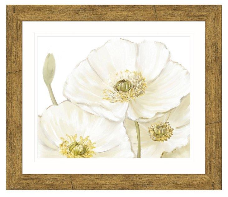 White Flower Print I