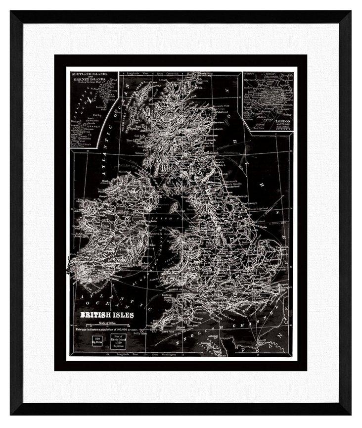 Map of British Isles Print