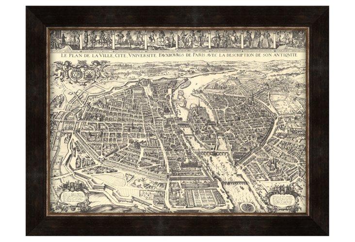 Map of Paris Print