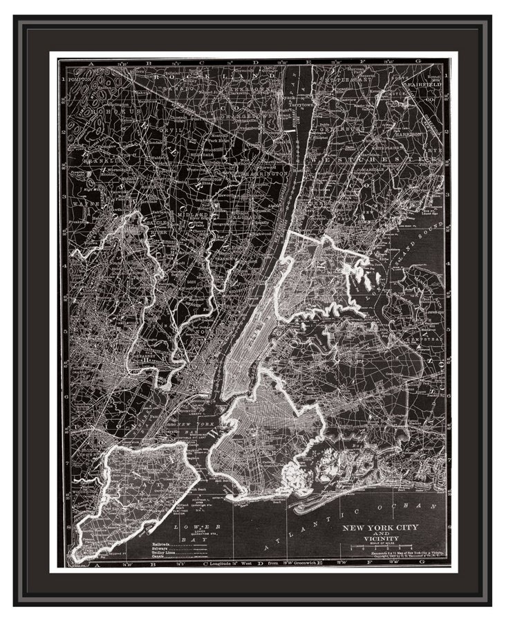 Map of New York City Canvas