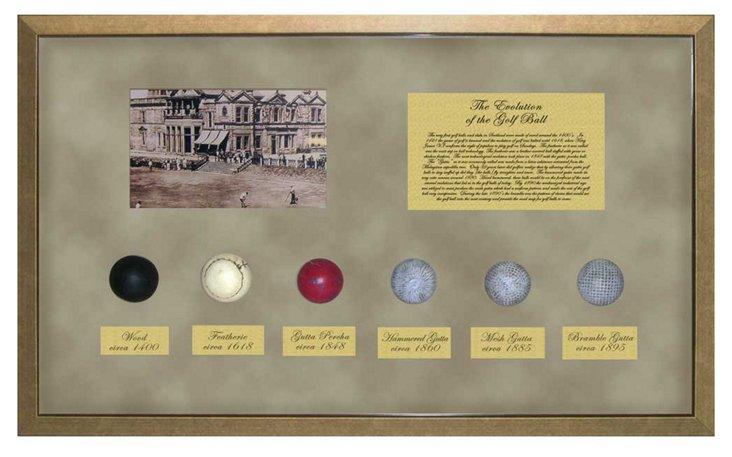 Golf Ball History, Gold