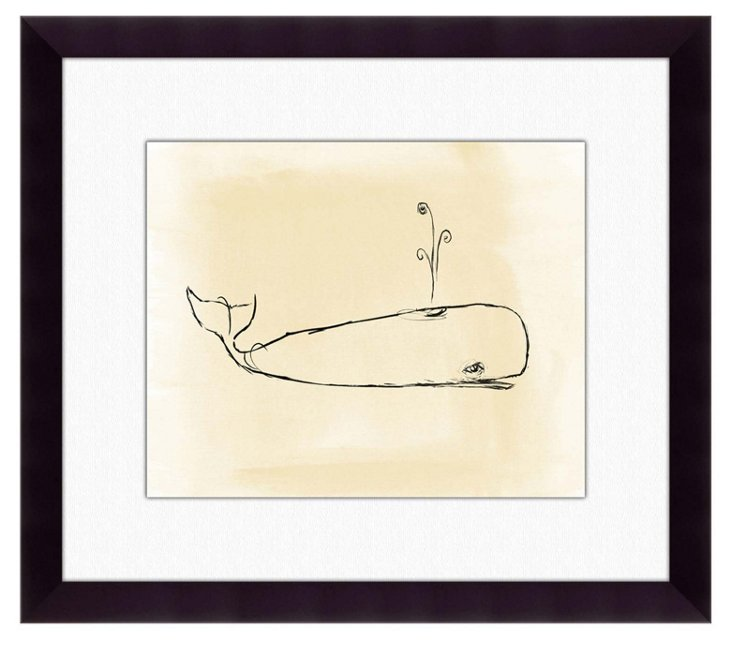 Framed Whale Silhouette Print
