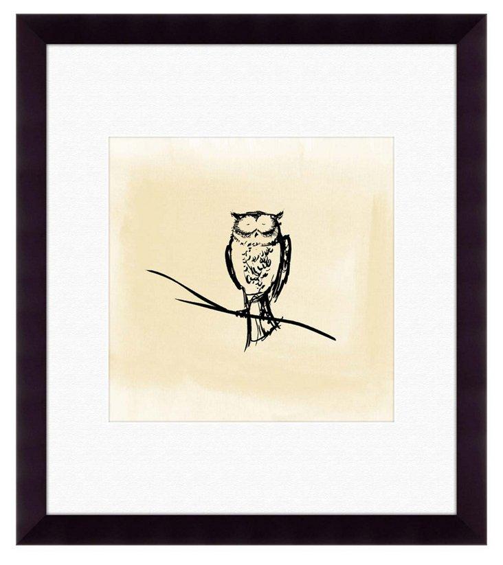 Owl Silhouette Print