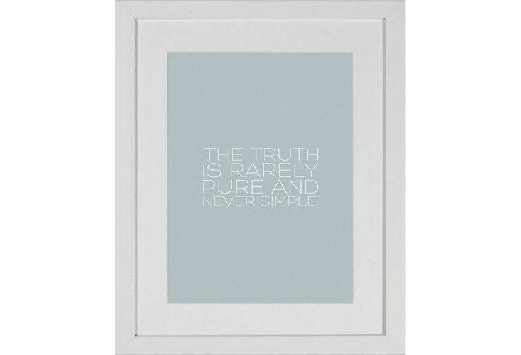 Truth Framed Print