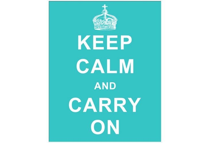 Keep Calm and Carry On, Blue