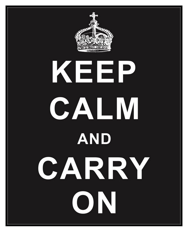 Keep Calm and Carry On, Black