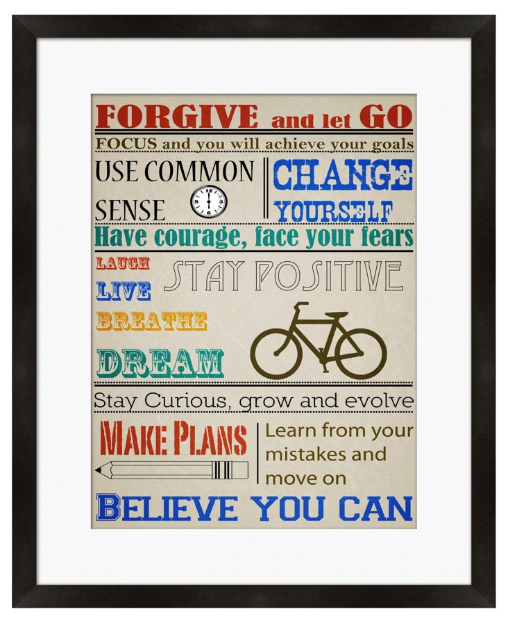 Forgive and Let Go Framed Print