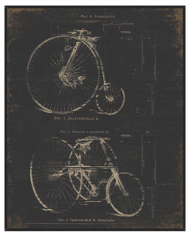 Architectural Bikes Print