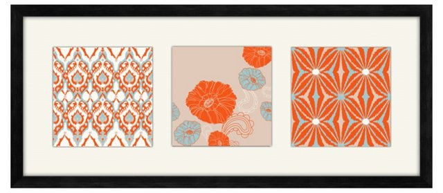 Orange Pattern Print