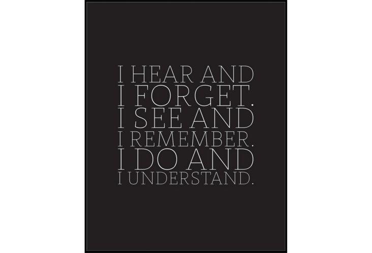 I Hear & Forget