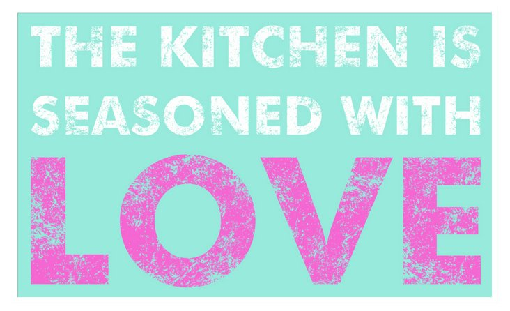 Kitchen Is Seasoned With Love Print