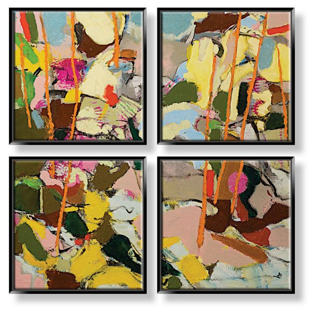 Friedlander, Abstract Colors Quadriptych