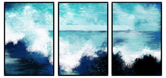 Lim, Ocean Waves Mini Triptych