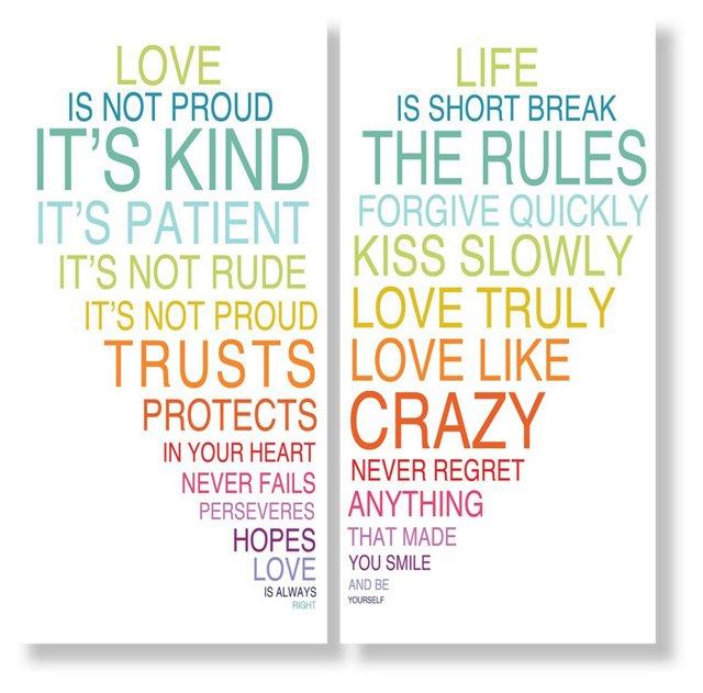 Love Is & Life Is III, Set of Two Prints