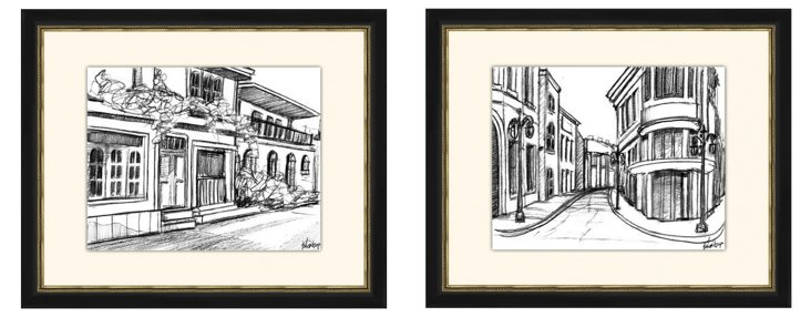 Sketches of Downtown I Diptych