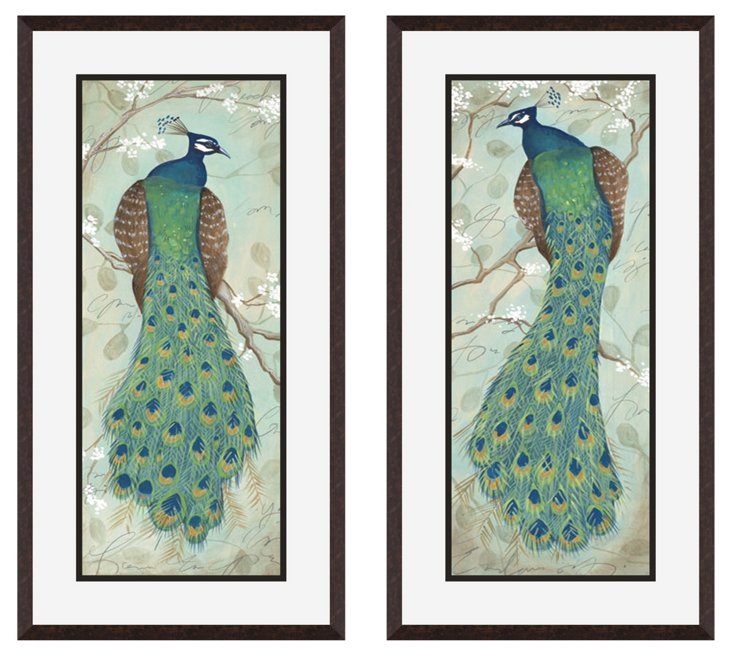 Peacock, Set of Two