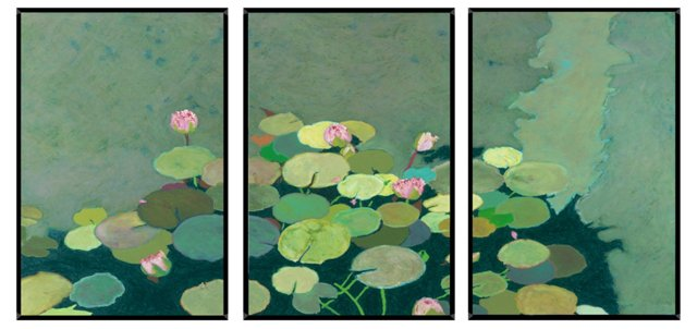 Friedlander, Organic Lily Pads Triptych
