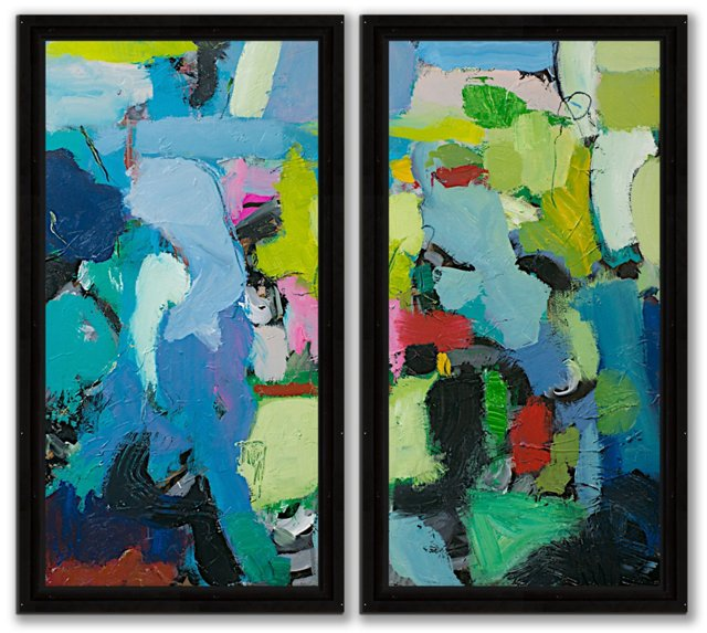 Alan Freidlander, Calm Abstract Diptych