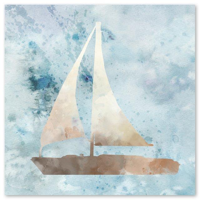 Watercolor Ship Canvas