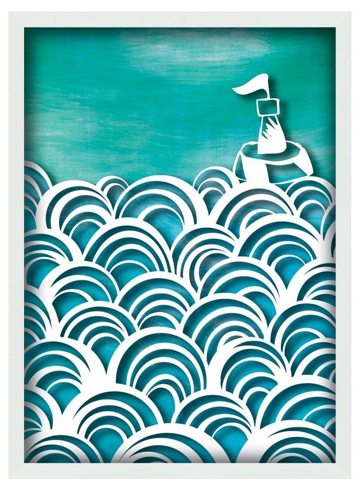 Framed Ocean Swirl