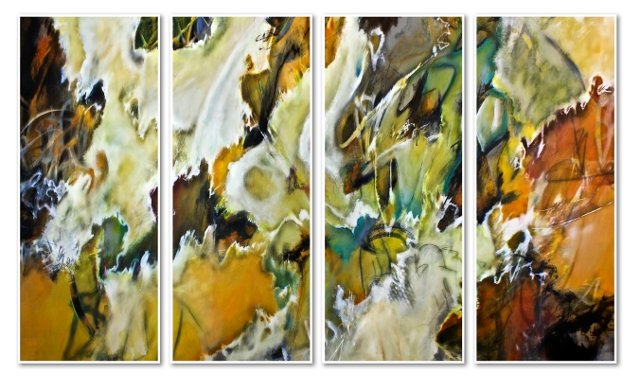 Autumn Abstract Laminate Box Quadriptych
