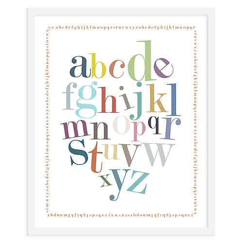 Alphabet Border Print, Mini, ModernPOP