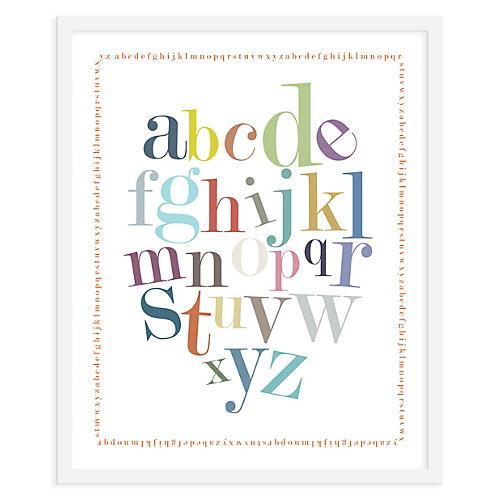 ModernPOP, Alphabet Border Print, Mini