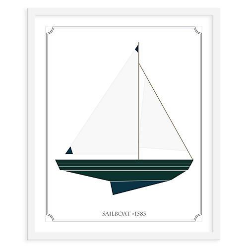 Sailboat Right, Mini, ModernPOP