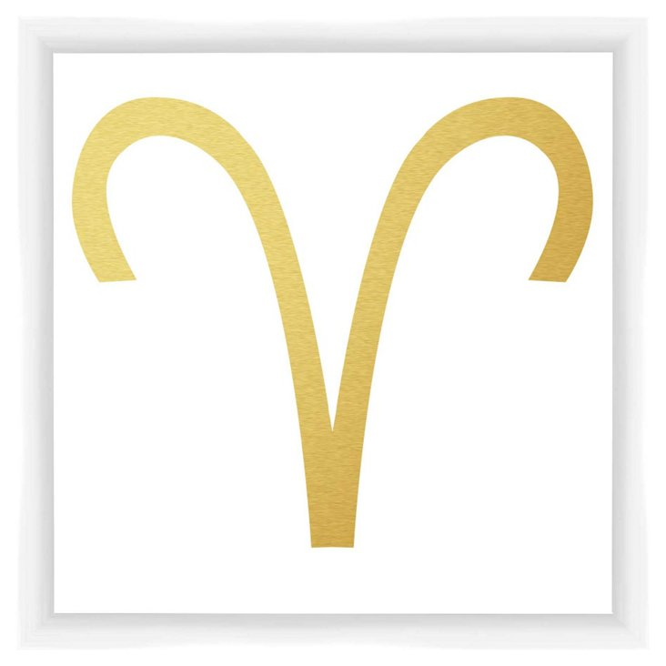 Aries Sign, Gold