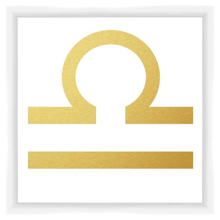 Libra Sign, Gold