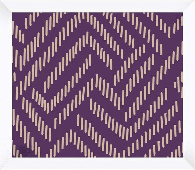 Purple & White Pattern
