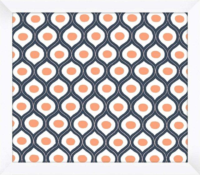Blue, Orange & White Pattern