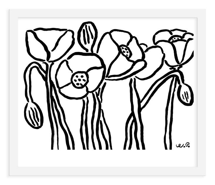 Wayne Pate, Poppies Print Final, Mini