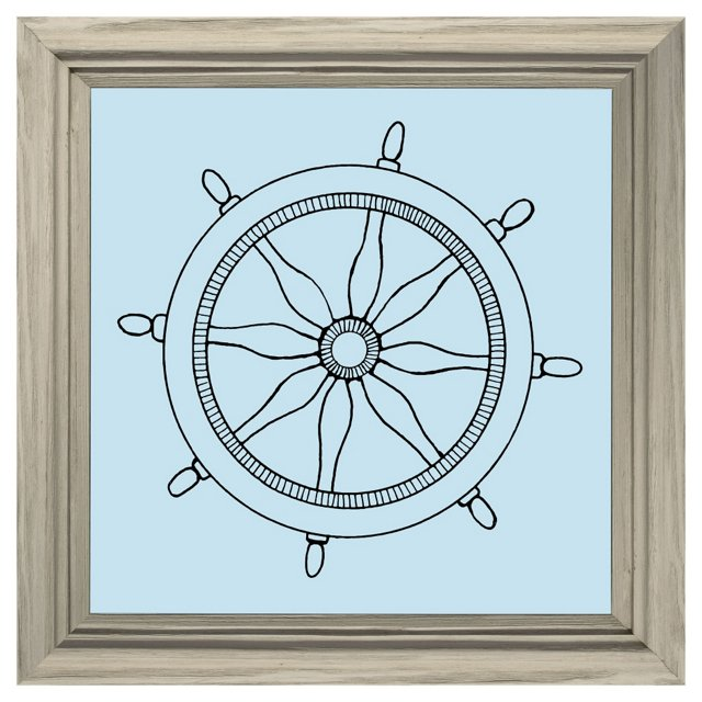 Blue Boat Wheel