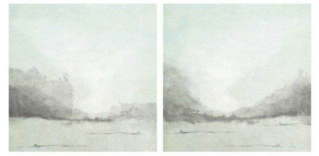 Misty Seaside Diptych