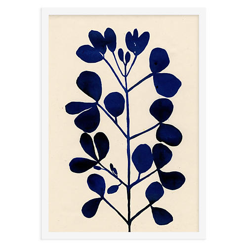 Leaf Study, Indigo, As Collective