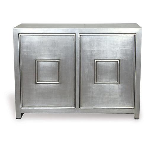 Broadway 2-Door Cabinet, Silver