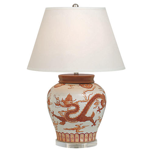 Dragon Table Lamp, Mandarin Spice