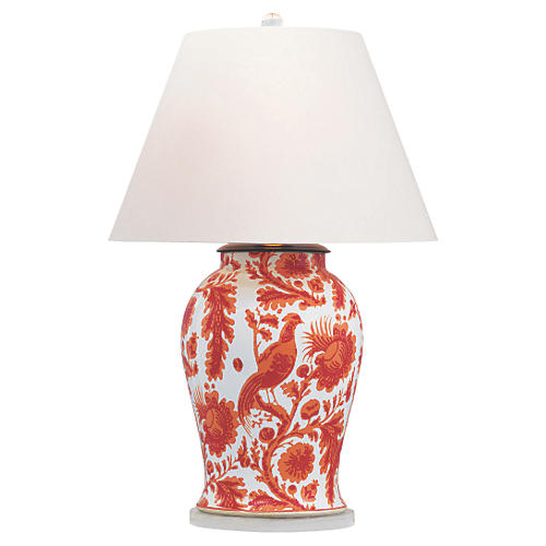 Arcadia Table Lamp, Coral
