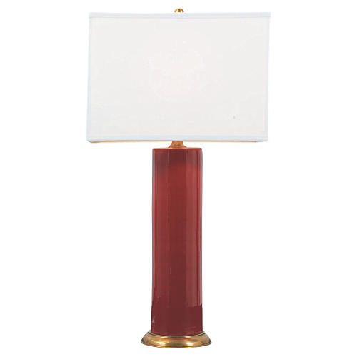 Melrose Table Lamp, Ruby