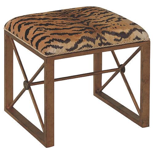 Le Tigre Single Bench, Gold/Black