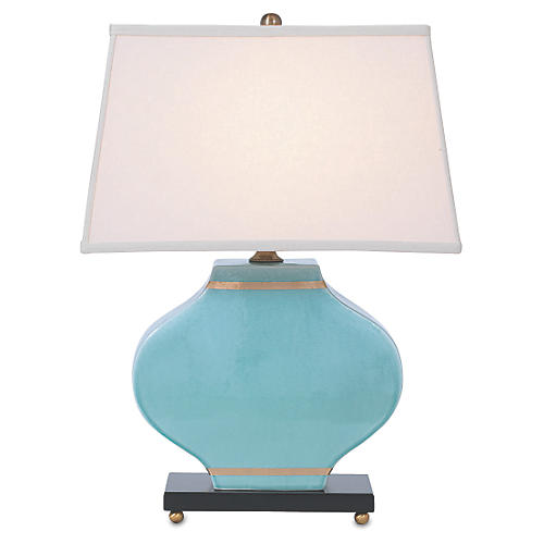 Carol Table Lamp, Blue