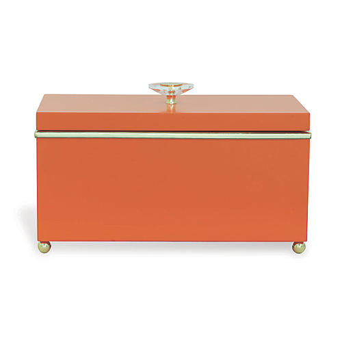 "15"" Naples Box, Orange/Gold"